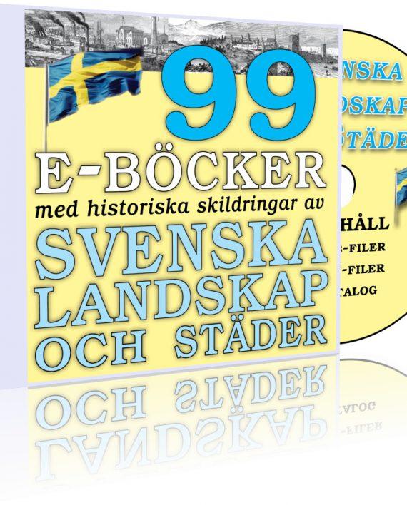 """DVD-samlingen """"99 e-böcker om svenska landskap, städer och sevärdheter"""""""