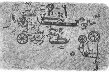 Affisch Hällristningen Solstativet 1874